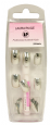 <b>LP Professional Airbrush Silver Chrome Nails - &#39;with glue&#39; (24 pieces)</b>
